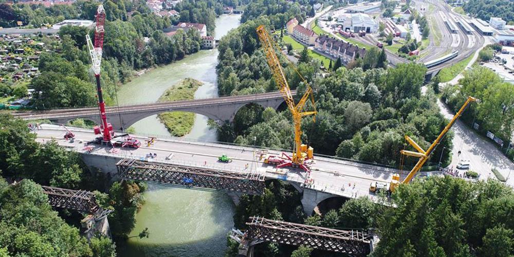 Ludwigsbrücke Kempten Drohne